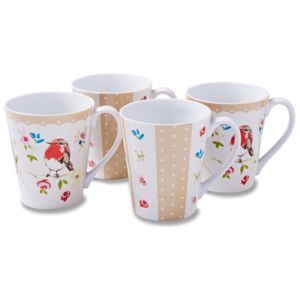 Set 4 căni Cooksmart England Dawn Chorus, 350 ml