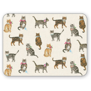 Set 4 suporturi pentru farfurie Cooksmart England Cats on Parade