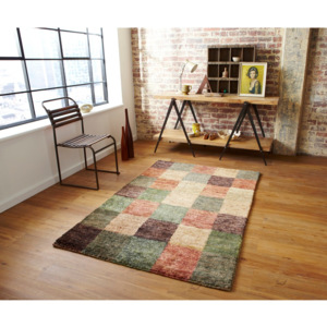 Covor Think Rugs Hemp Check, 120 x 170 cm