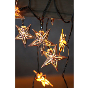 Șirag luminos cu LED Best Season Metal Stars Copper