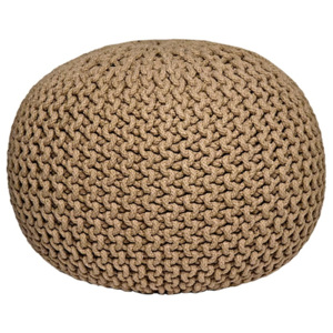 Pouf tricotat LABEL51 Knitted, bej