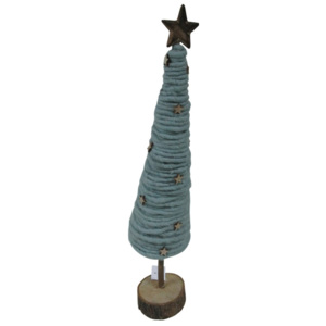 Statuetă decorativă Côté Table Fir Tricot Sea Green, 46 cm
