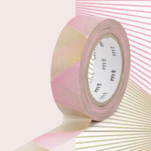 Bandă decorativă Washi MT Masking Tape Renee, rolă 10 m
