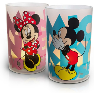 Philips 71712/55/16 - Lampa de masa LED CANDLES MICKEY & MINNIE MOUSE (SET 2x) 1xLED/1,5W/230V