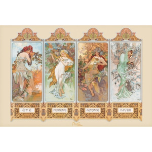 Poster, Quadro Alfons Mucha – four seasons, (91,5