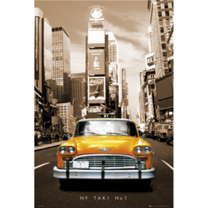 New York Taxi no.1 - sepia Poster, (61 x 91,5 cm)