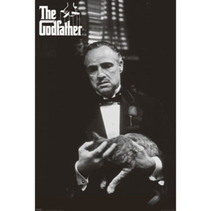 The Godfather - cat (B&W) Poster, (61 x 91,5 cm)
