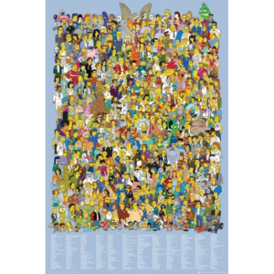 THE SIMPSONS - cast 2012 Poster, (61 x 91,5 cm)