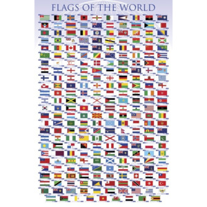 Flags of the world Poster, (61 x 91,5 cm)