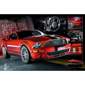 Red Mustang Poster, (91,5 x 61 cm)