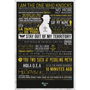 BREAKING BAD - typographic Poster, (61 x 91,5 cm)