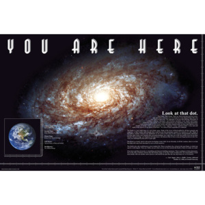 You Are Here - Space Poster, (91,5 x 61 cm)