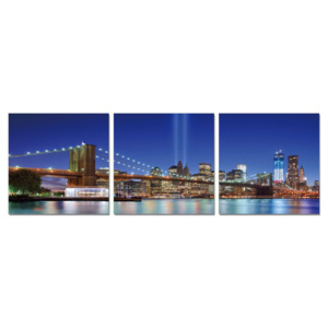 New York - Tribute in Light from the Distance Tablou, (210 x 70 cm)