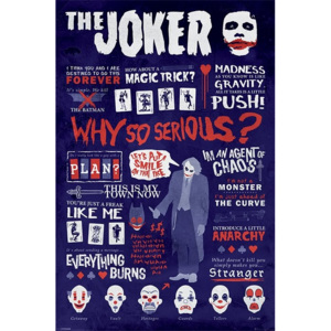 Batman: The Dark Knight - Joker Quotographic Poster, (61 x 91,5 cm)