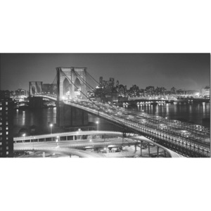 Brooklyn bridge at night Reproducere, (140 x 70 cm)