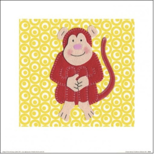 Catherine Colebrook - Cheeky Monkey Reproducere, (30 x 30 cm)