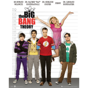 BIG BANG THEORY - line up Poster, (40 x 50 cm)