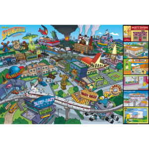 The Simpsons - Locations Poster, (91,5 x 61 cm)