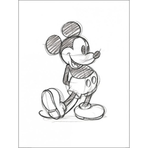 Mickey Mouse - Sketched Single Reproducere, (60 x 80 cm)