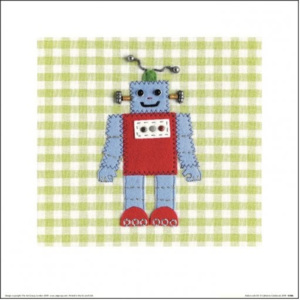 Catherine Colebrook - Robots Rule OK Reproducere, (30 x 30 cm)