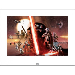Star Wars Episode VII: The Force Awakens - Galaxy Reproducere, (80 x 60 cm)