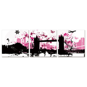 Modern Design - City Collage Tablou, (210 x 70 cm)