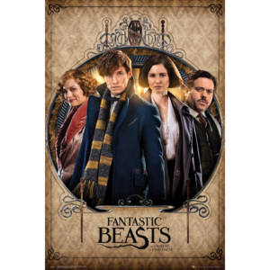 Fantastic Beasts And Where To Find Them - Group Frame Poster, (61 x 91,5 cm)