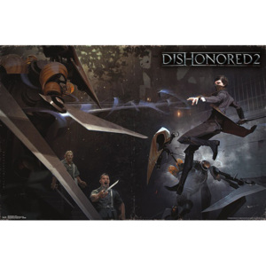 Dishonored 2 - Battle Poster, (86,5 x 55,5 cm)