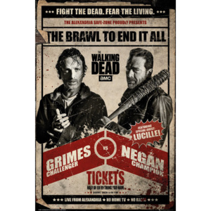 The Walking Dead - Fight Poster, (61 x 91,5 cm)