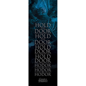 Game of Thrones - Hold the door Hodor Poster, (53 x 158 cm)