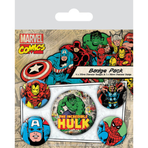 Set insigne Marvel Retro - Hulk