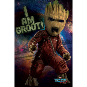Guardians of the Galaxy Vol. 2 - Angry Groot Poster, (61 x 91,5 cm)