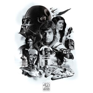 Star Wars - Montage (40th Anniversary ) Poster, (61 x 91,5 cm)