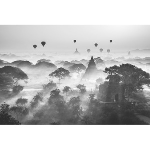 Balloons Over Bagan Poster, (91,5 x 61 cm)