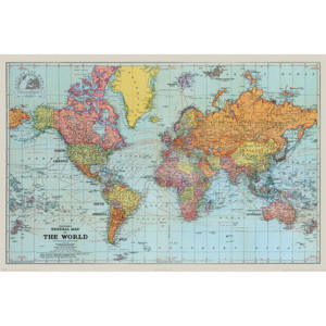 Poster, Quadro Stanfords General Map Of The World