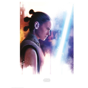 Star Wars The Last Jedi - Rey Lightsaber Paint Reproducere, (60 x 80 cm)