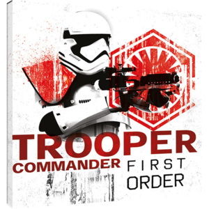 Star Wars The Last Jedi - Tooper Commander First Order Tablou Canvas, (40 x 40 cm)