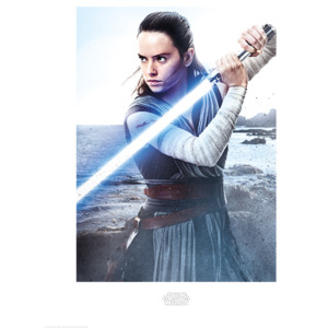Star Wars The Last Jedi - Rey Engage Reproducere, (60 x 80 cm)