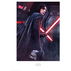 Star Wars The Last Jedi - Kylo Ren Rage Reproducere, (60 x 80 cm)
