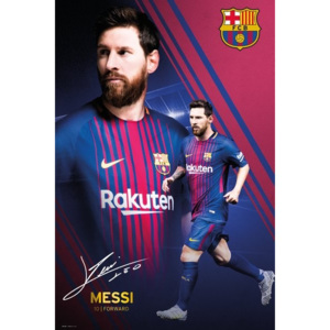 Barcelona - Messi Collage 17-18 Poster, (61 x 91,5 cm)