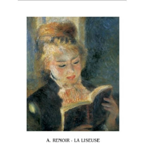 The Reader - Young Woman Reading a Book, 1876 Reproducere, Pierre-Auguste Renoir, (60 x 80 cm)