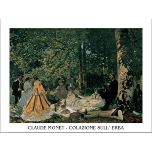 The Luncheon on the Grass, 1865-66 Reproducere, Claude Monet, (80 x 60 cm)