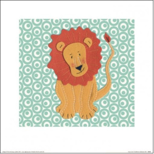 Catherine Colebrook - Fuzzy Lion Reproducere, (30 x 30 cm)