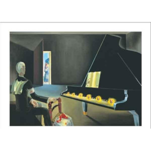 Partial Hallucination: Six Apparitions of Lenin on a Piano, 1931 Reproducere, Salvador Dalí, (30 x 24 cm)