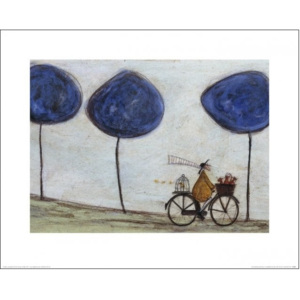 Sam Toft - Freewheelin' with Joyce Greenfields and the Felix 3 Reproducere, (50 x 40 cm)