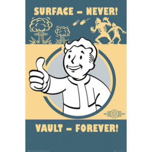 Fallout 4 - Vault Forever Poster, (61 x 91,5 cm)
