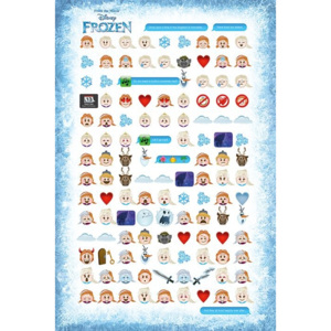 Frozen - Told By Emojis Poster, (61 x 91,5 cm)