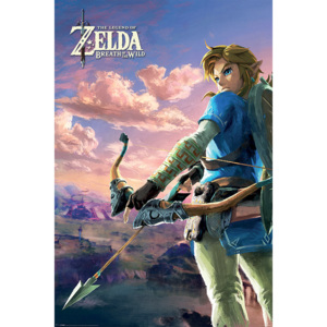Zelda Breath of the Wild - Hyrule Scene Landscape Poster, (61 x 91,5 cm)
