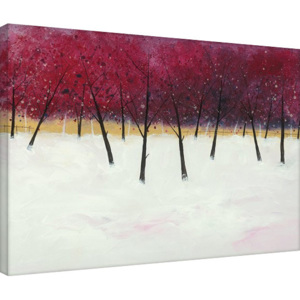 Stuart Roy - Red Trees on White Tablou Canvas, (80 x 60 cm)