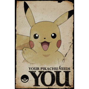 Pokemon - Pikachu Needs You Poster, (61 x 91,5 cm)